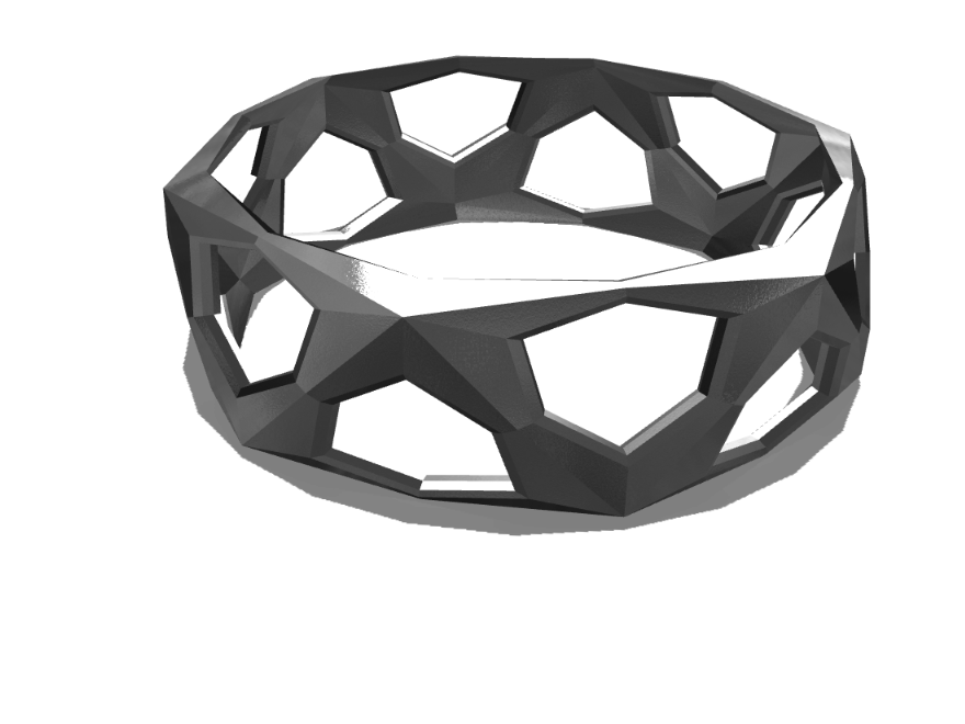 Geometry Bracelet  subdivided - 3D design by Andrej Petrovič Apr 20, 2017