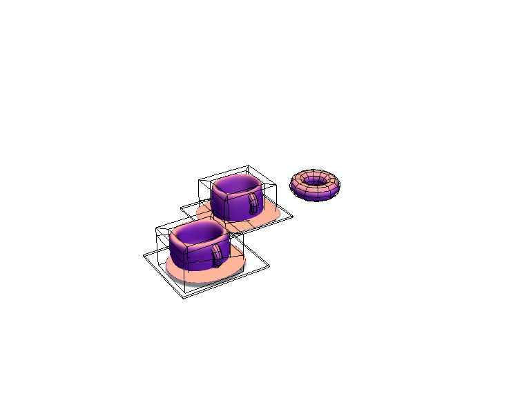 Cups (Actually bowls but...) and a doughnut  - 3D design by 23hessm on Jan 18, 2018