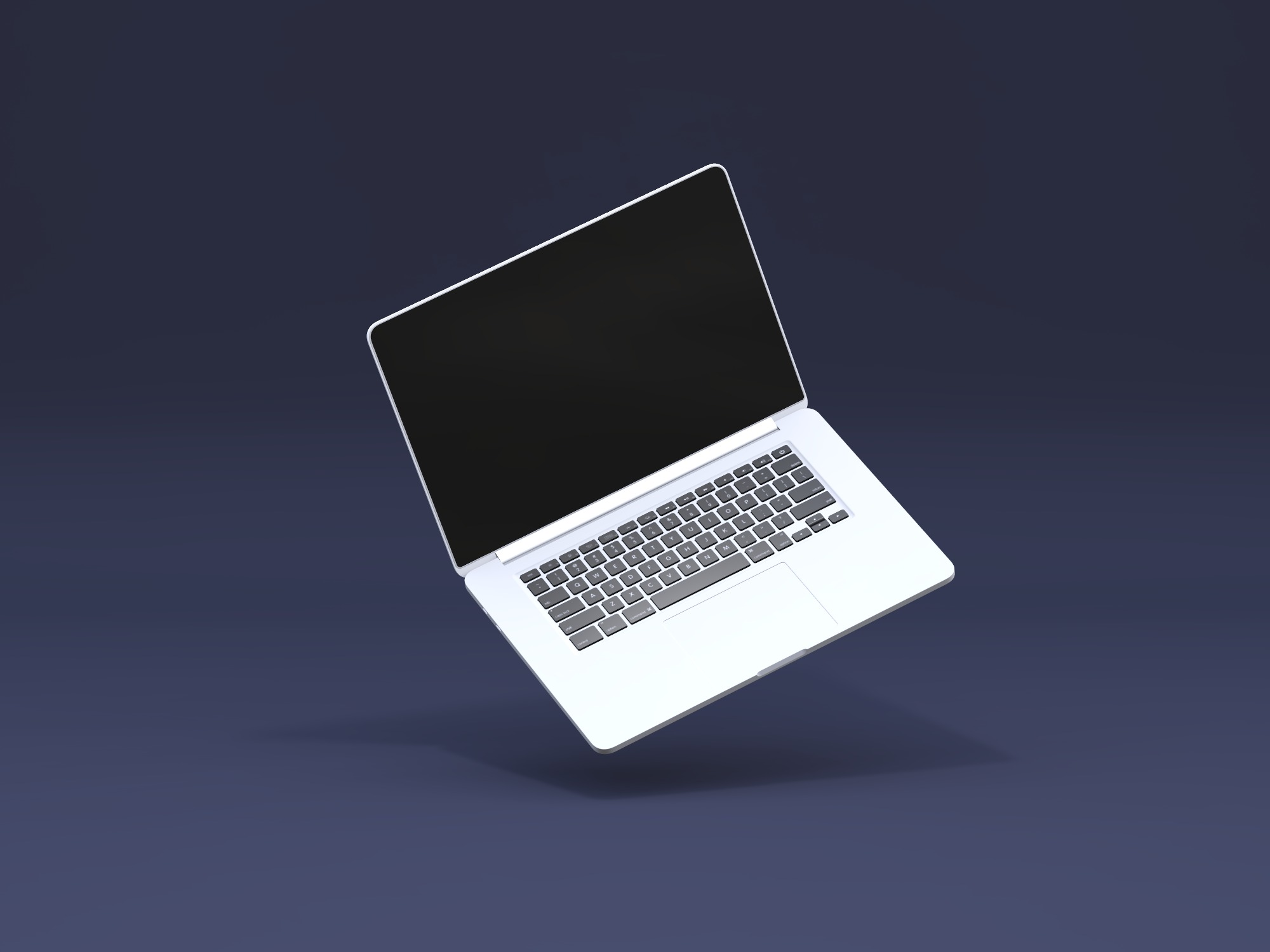 Macbook Pro floating mockup - replace image (copy) - 3D design by J Abigail Perez Gil Oct 22, 2018