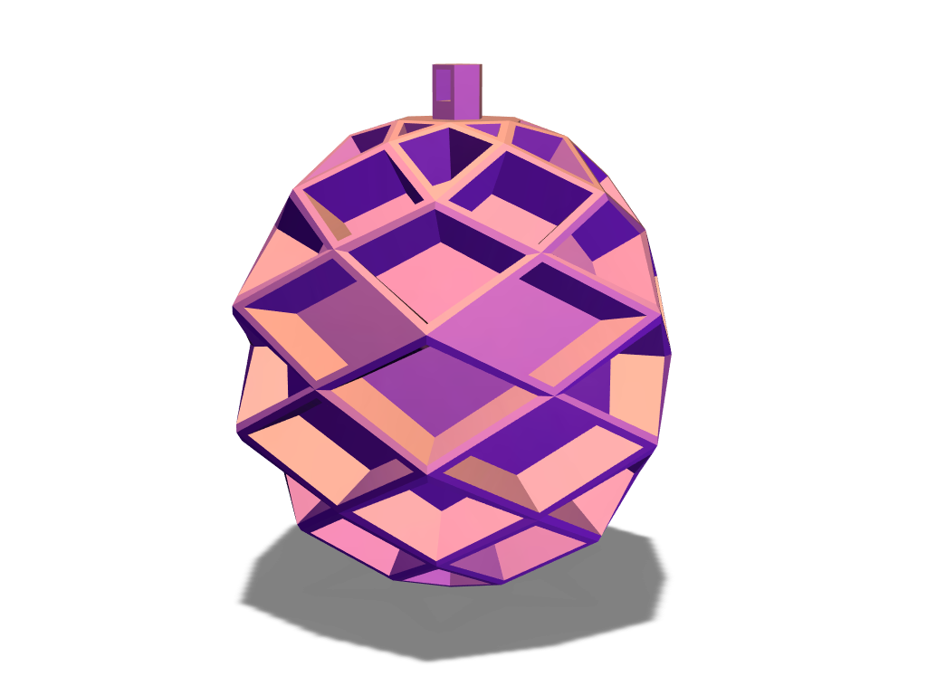 Inverted pinecone bauble - 3D design by liwolisu Dec 20, 2017