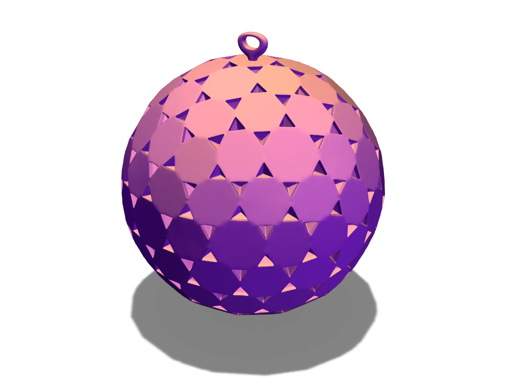 Triangle bauble - 3D design by sisane on Dec 19, 2017