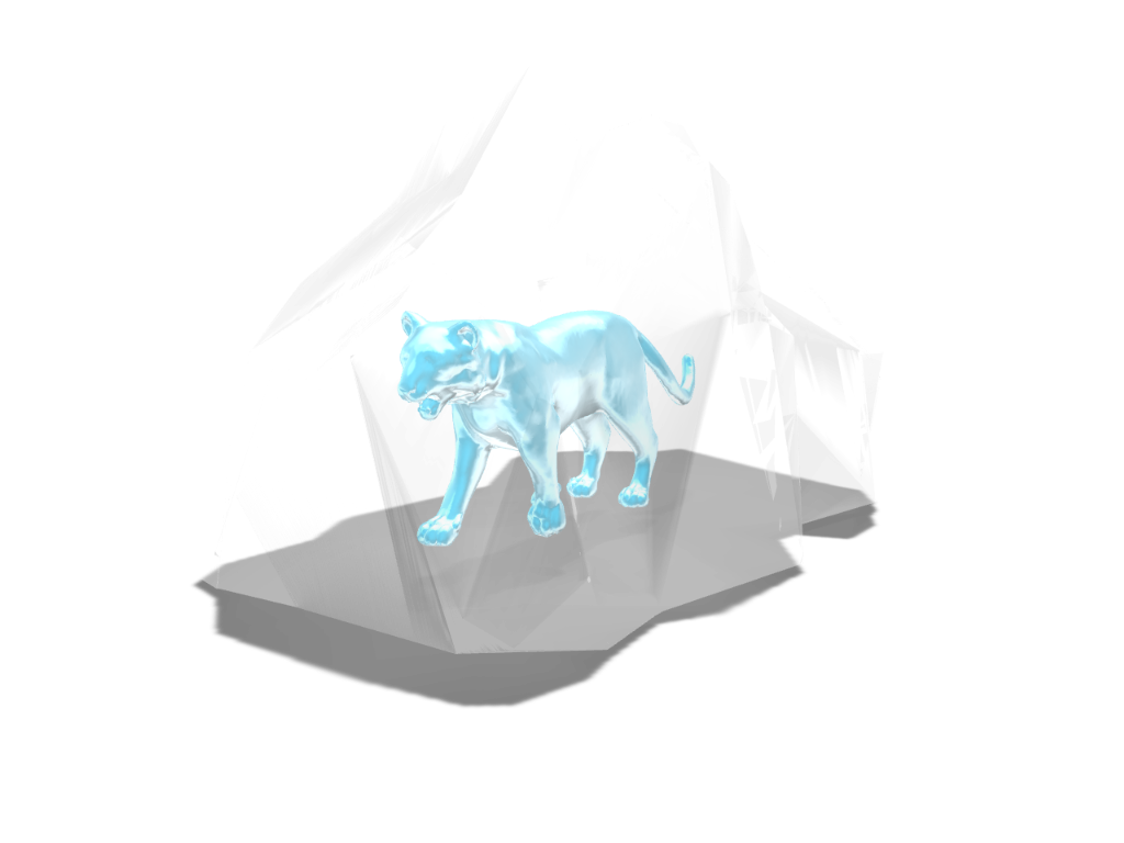 Tiger inside Ice - 3D design by Omni-Moulage on Sep 5, 2017