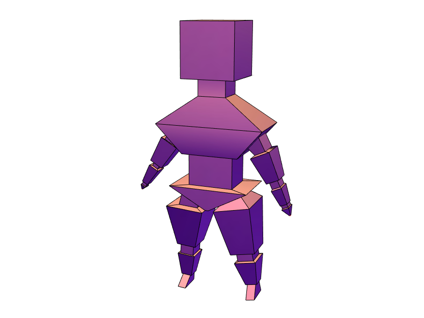 block man  - 3D design by 20rileyj Feb 12, 2018