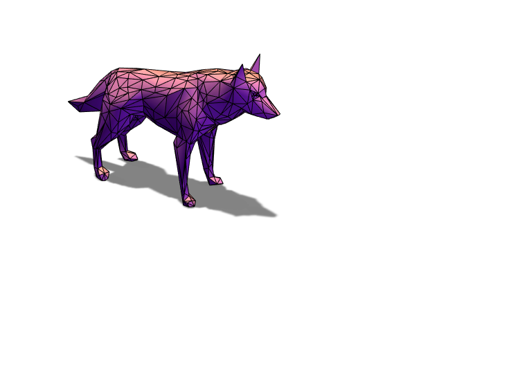 Low Poly Wolf Edit - 3D design by Arabella on May 12, 2018