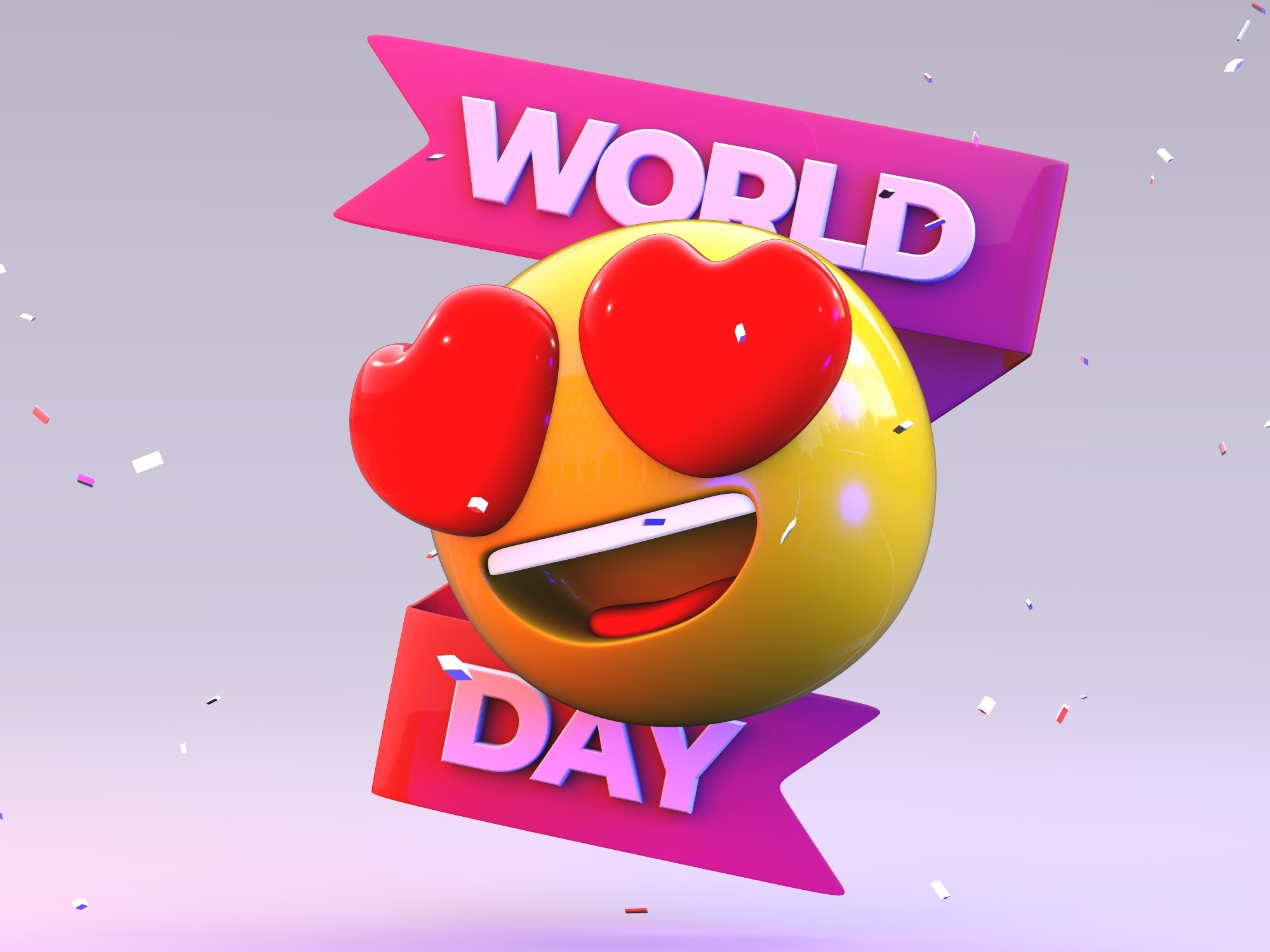 World Emoji Day - 3D design by VECTARY on Aug 6, 2018