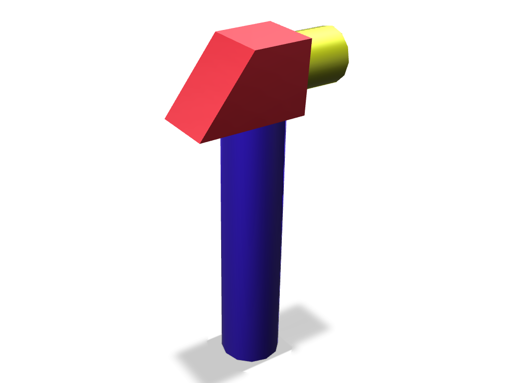 first design (hammer) - 3D design by alansalas.angeline on Nov 9, 2017