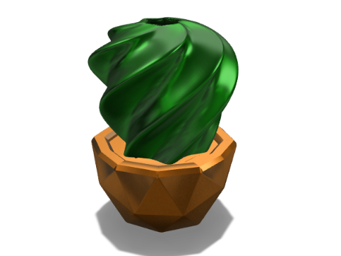 Twirly cactus vase - 3D design by Juan Montiel Sep 4, 2017