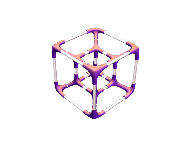 Hypercube (Project 4D) - 3D design by Lars_Varjøtie Nov 21, 2017