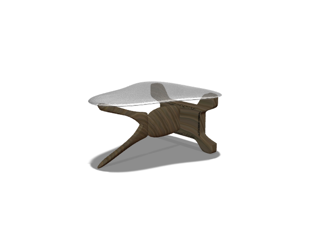 Table design #8: A modern wood table - 3D design by Dylan Manion on Nov 16, 2017