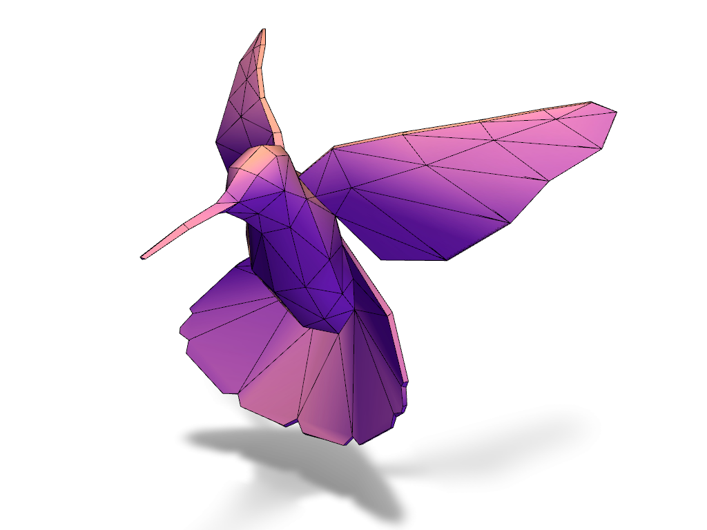 Humming Bird - 3D design by VECTARY Sep 13, 2016