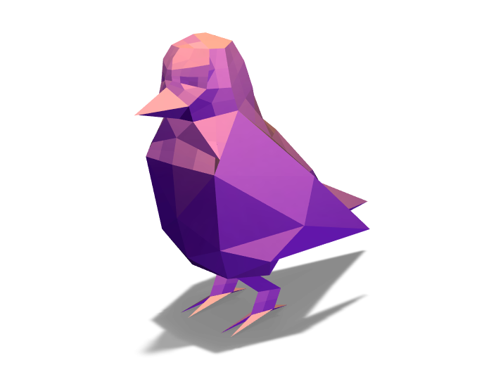 Low Poly Bird - 3D design by K.K. Studios on May 7, 2018