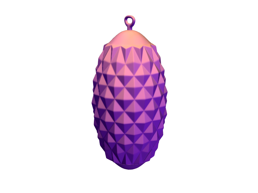 Pinecone shaped bauble - 3D design by VECTARY Dec 13, 2017