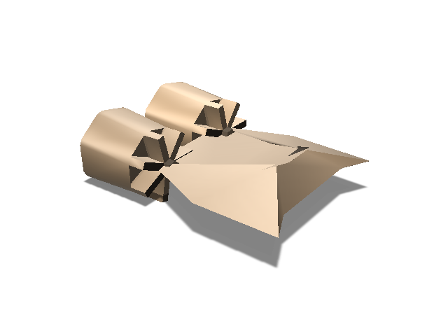 Turbo SpaceShip - 3D design by The Mii Lab on Aug 31, 2017