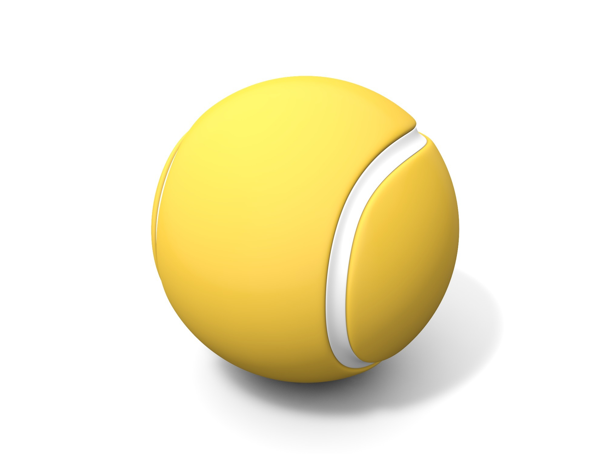 Tennis ball - 3D design by Vectary assets Nov 6, 2018