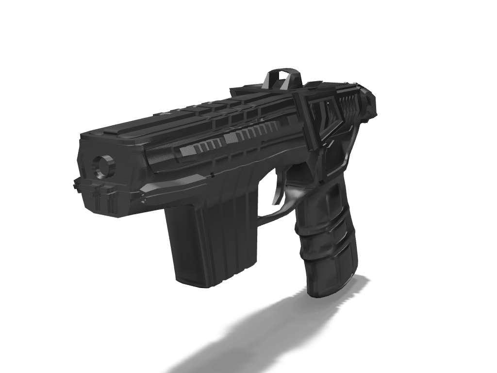 iz79 sci fi pistol - 3D design by exelever 25 Sep 17, 2017
