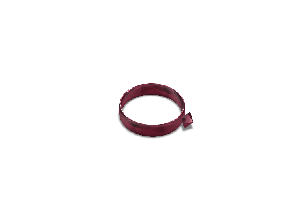 Red Ruby Ring - 3D design by hunterforero on Nov 24, 2017