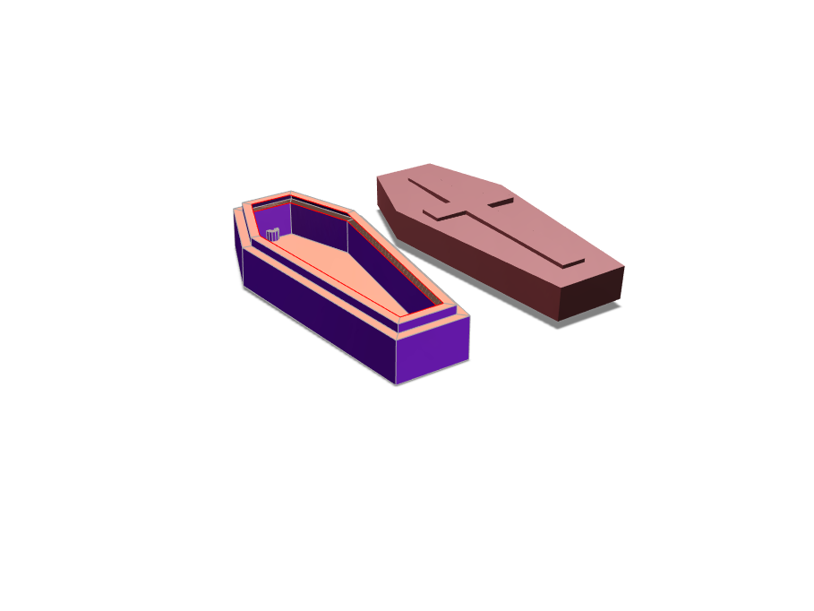Coffin incense holder - 3D design by kristen.g.daniels Jan 17, 2018