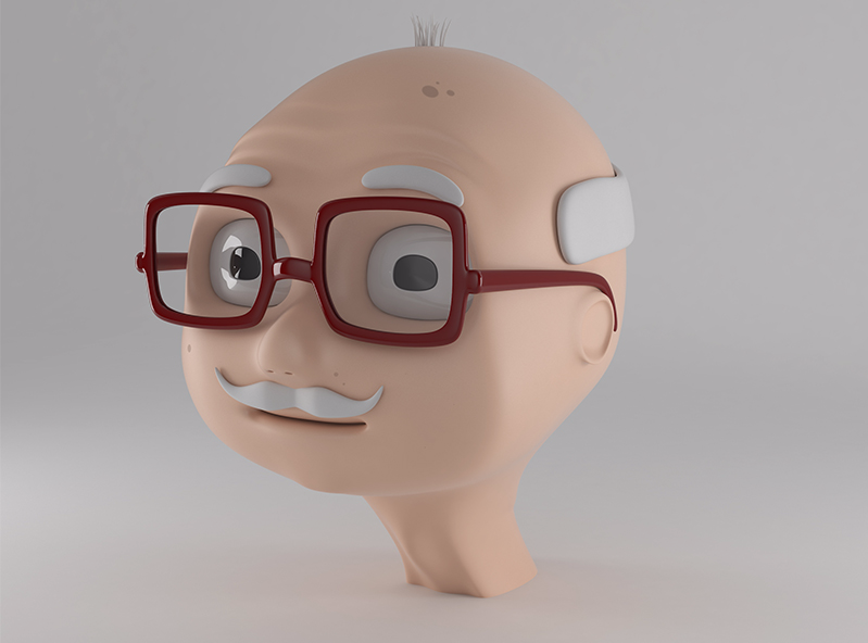 Grandpa Harold - 3D design by VECTARY Oct 12, 2017