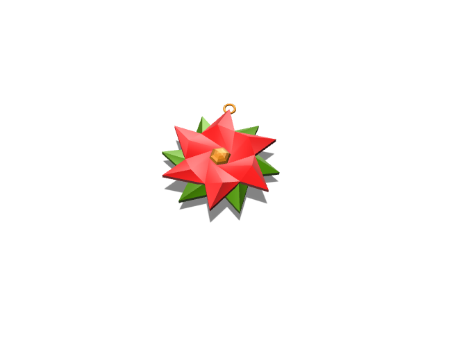 Poinsettia flower - 3D design by Luis on Nov 28, 2017