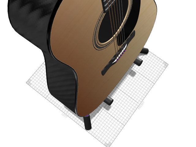 Acoustic Guitar - 3D design by Diego Souza on Mar 2, 2017