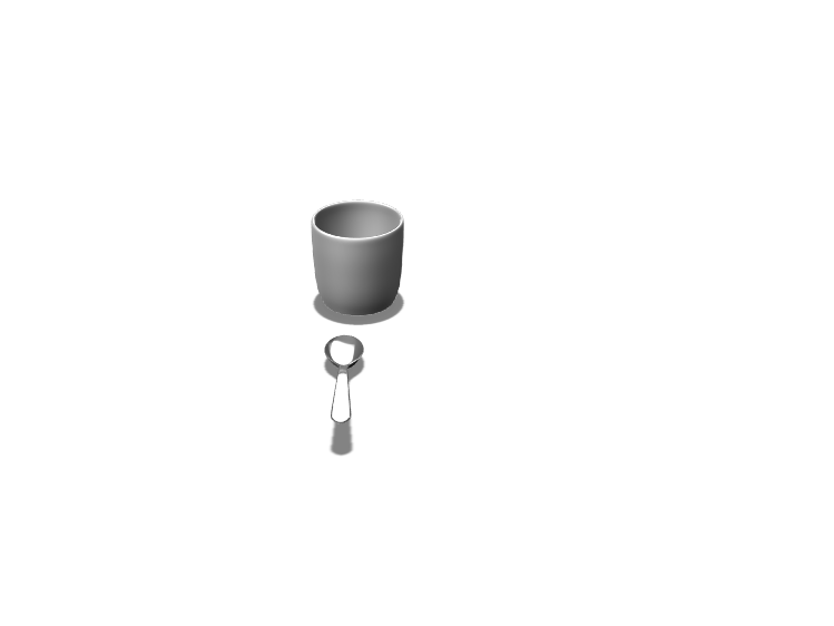 Mug and spoon - 3D design by 22horstc on Apr 9, 2018