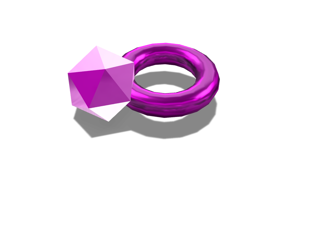 Amethyst ring - 3D design by ayden.cow on Sep 21, 2017