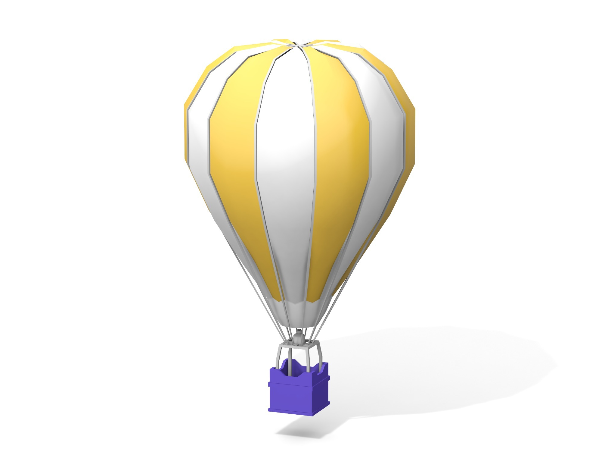 Hot air balloon - 3D design by Vectary assets Nov 5, 2018