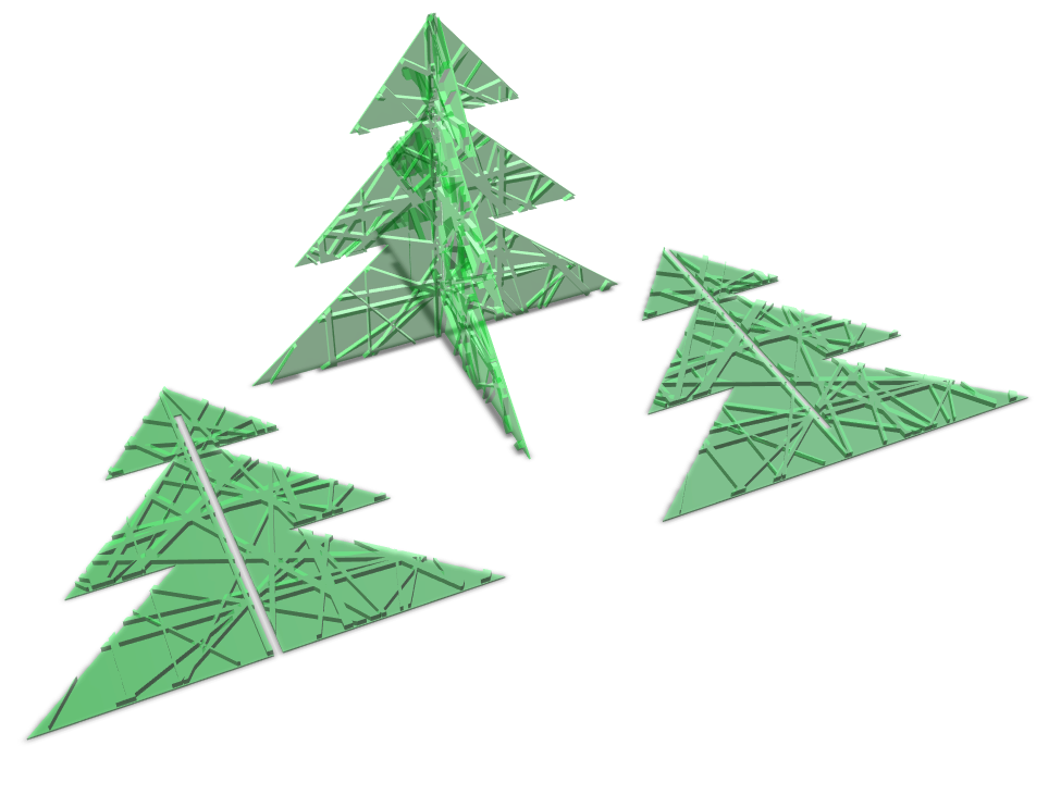 Fashion Forward Christmas Tree - 3D design by Isabela Monica Tarta Dec 19, 2017