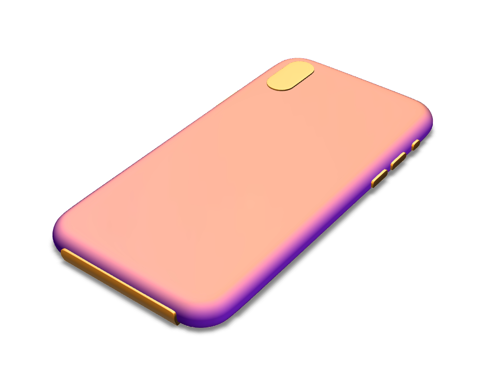 iPhone X case template (boolean version) - 3D design by VECTARY Oct 29, 2017