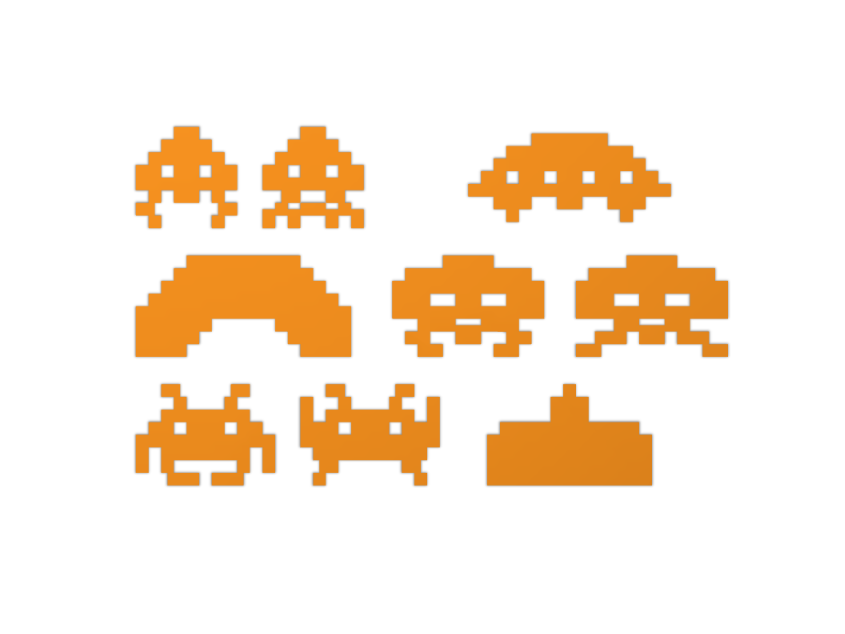 Space Invaders - 3D design by Odds and Ends Sep 6, 2017