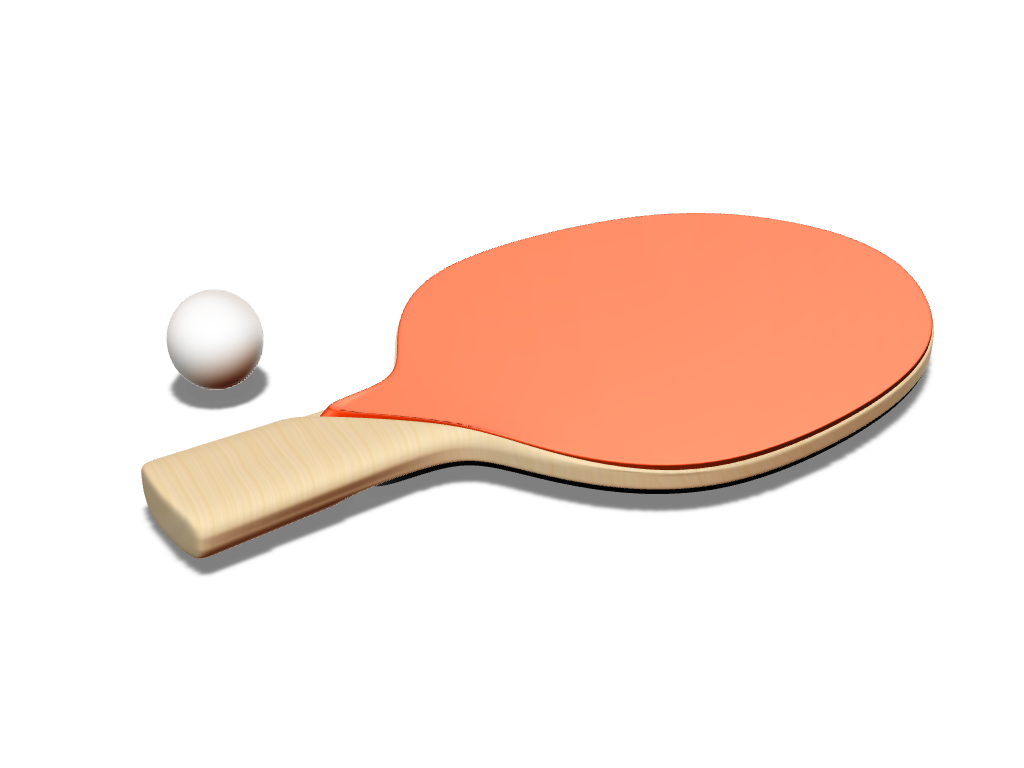 PING PONG RACKET - 3D design by Johnnyal Nov 23, 2016