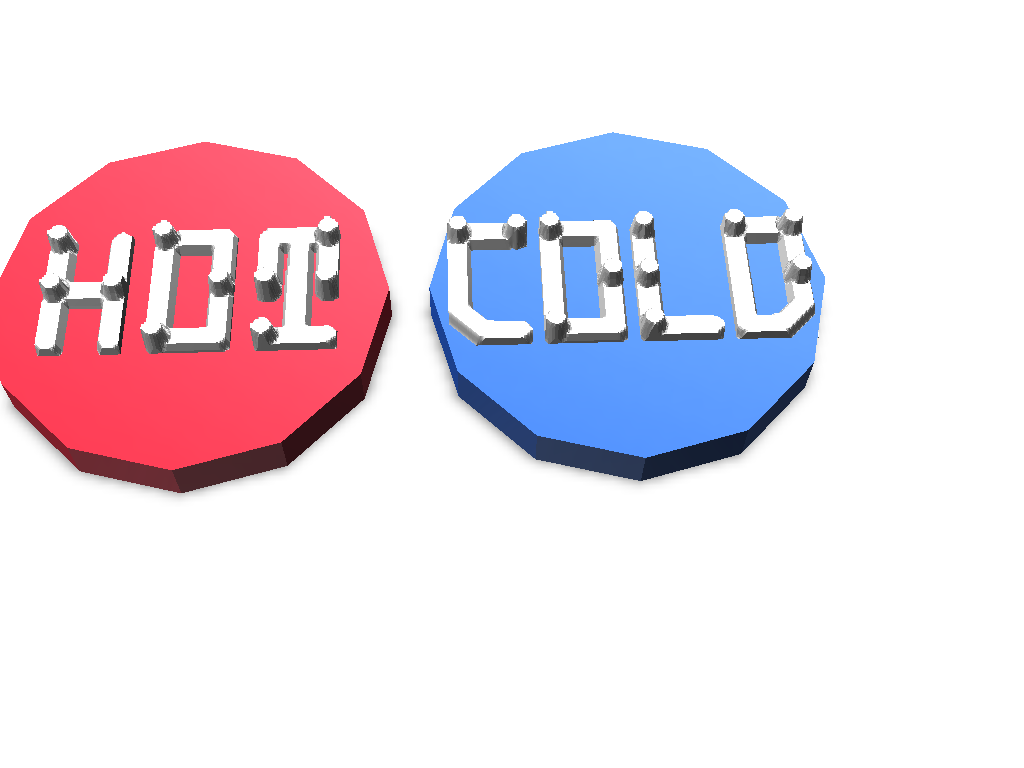 Tap Hot and Cold Marker - 3D design by rigtig181 Apr 8, 2018