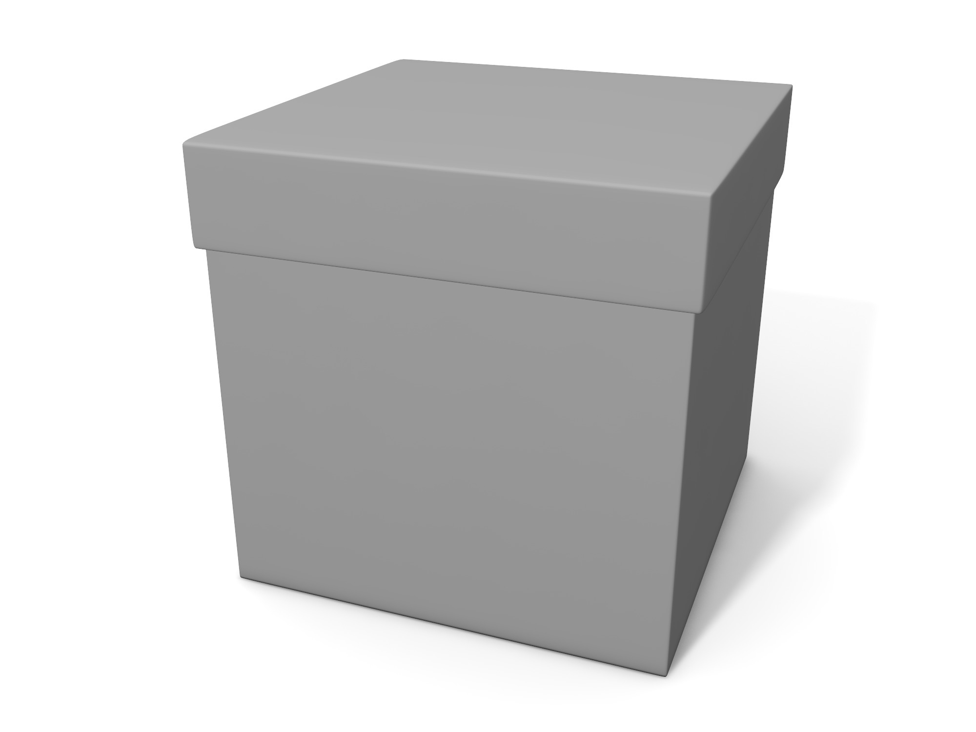 Box with lid 50 × 50 × 50 - 3D design by assets Nov 6, 2018