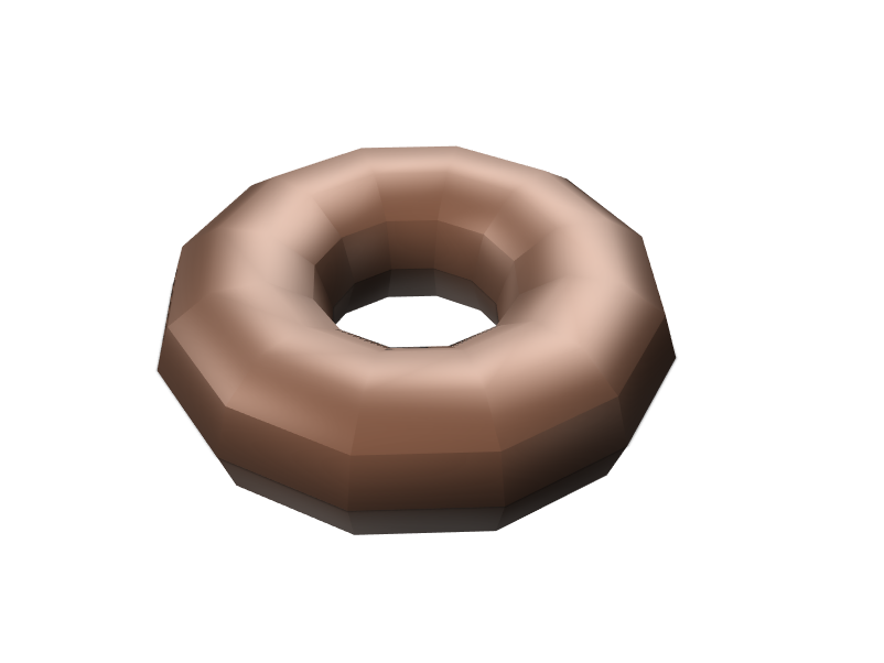 Chocolate Donut - 3D design by nico.longview on Feb 6, 2018