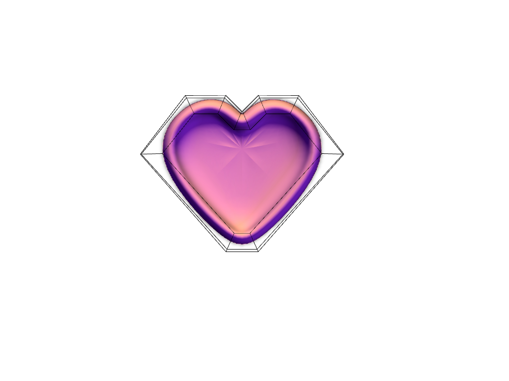 Trial Heart - 3D design by TED3D Sep 12, 2017