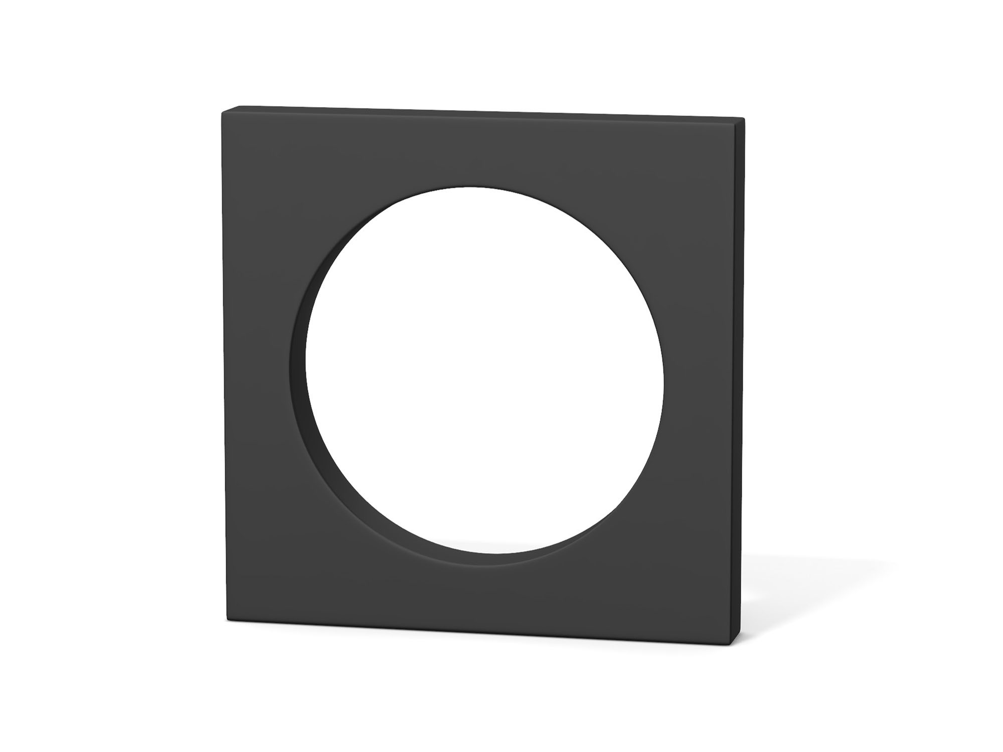 "Square with hole from ""Sharp Shapes"" collection - 3D design by Vectary assets Mar 5, 2019"