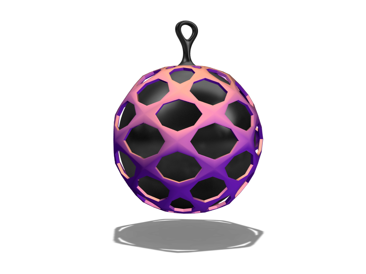 Bauble 2 - 3D design by El Gullo on Dec 22, 2017
