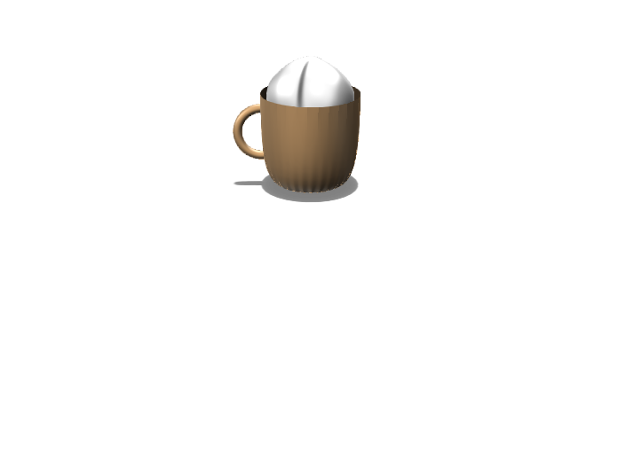 hot chocolate w mallow - 3D design by cool man on Nov 13, 2017