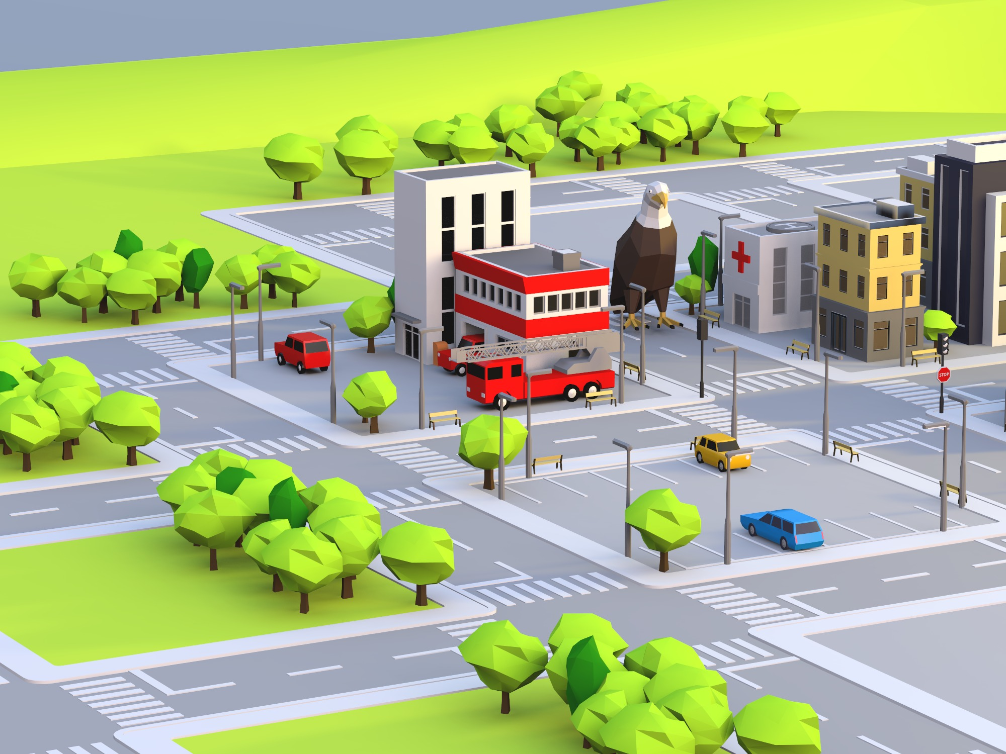 Build a city - drag and drop objects (copy) (copy) - 3D design by gajendra kumar on Dec 15, 2018