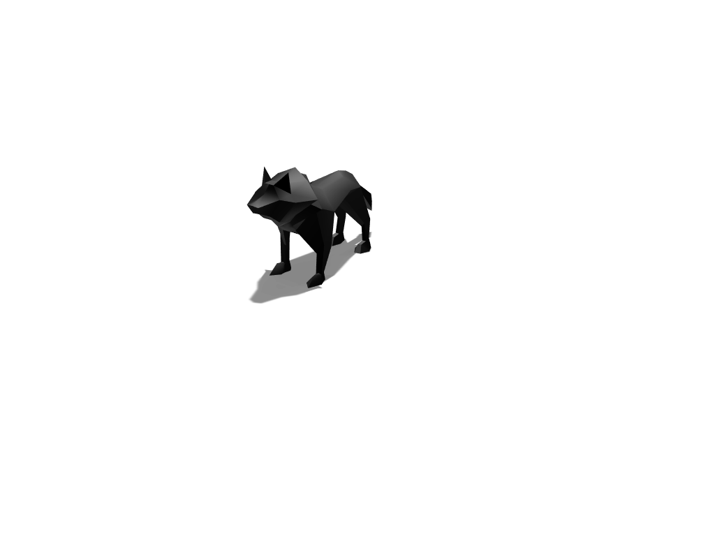 Low poly wolf - 3D design by nbarranco on May 17, 2018
