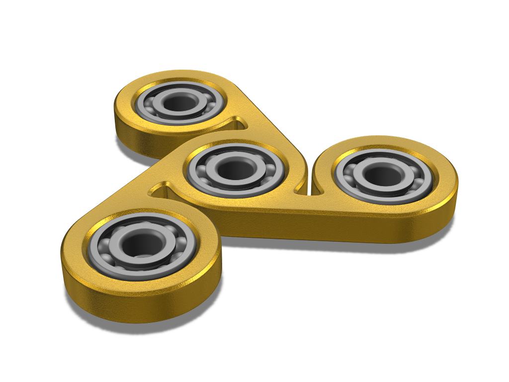 Golden Fidget spinner - 3D design by Milan Gladiš Jun 1, 2017