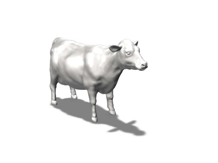 Cow for UFO Lamp. Alien Abduction. - 3D design by naomi.kendall Sep 17, 2017