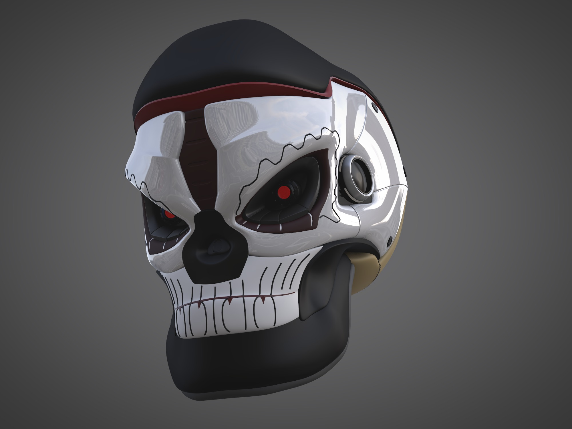 Tech Mex Skull - 3D design by matt_one on Oct 7, 2018
