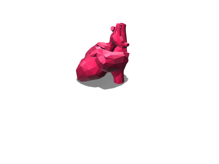 Lowpoly heart vase - 3D design by lmourton Feb 22, 2018