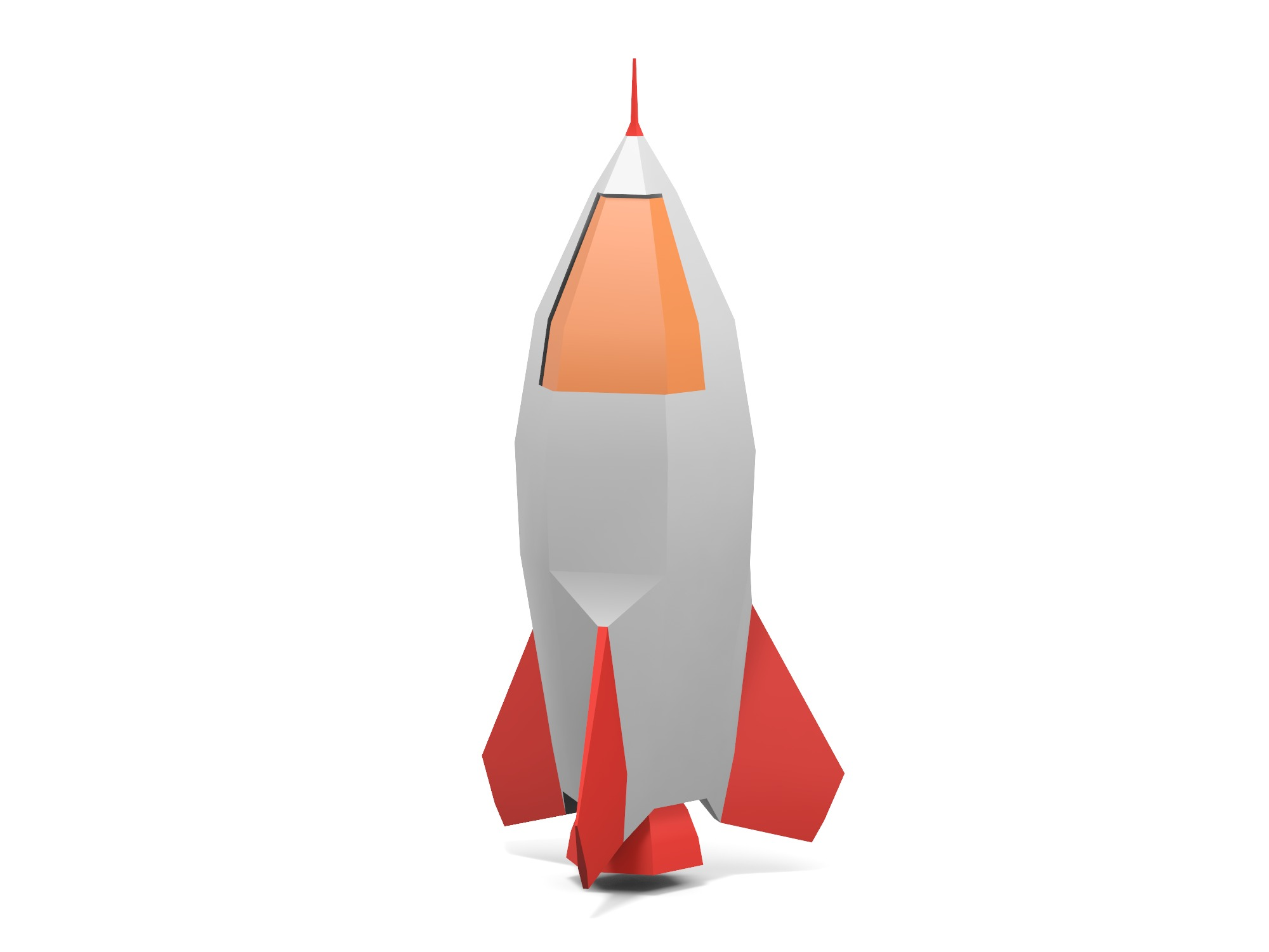 Rocket #4 - 3D design by Vectary assets Jun 3, 2019