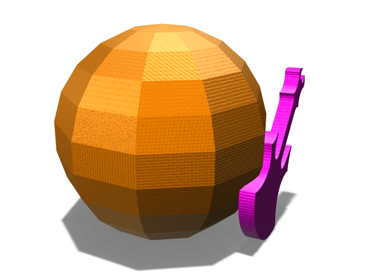 Sphere and Guitar - 3D design by Tejas Mane on Mar 31, 2018