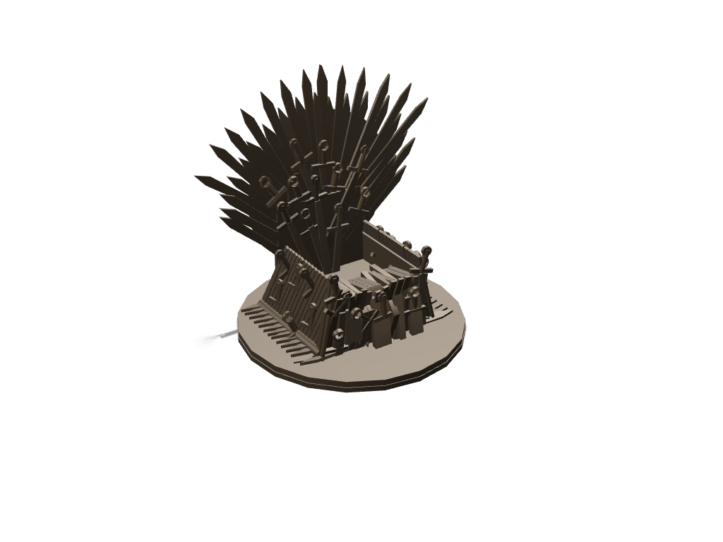 Mobile's Iron throne updated with extra back and base support - 3D design by saurabh shirolkar Sep 5, 2017