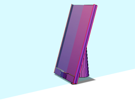 Phone Holder(Iphone 7, no headphone jack area) - 3D design by james.blair Sep 22, 2017