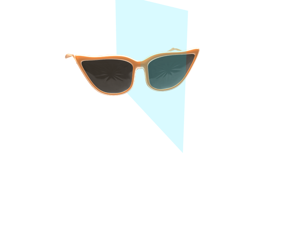 orange glasses 2 - 3D design by Taylor Pearl Strother Feb 19, 2018