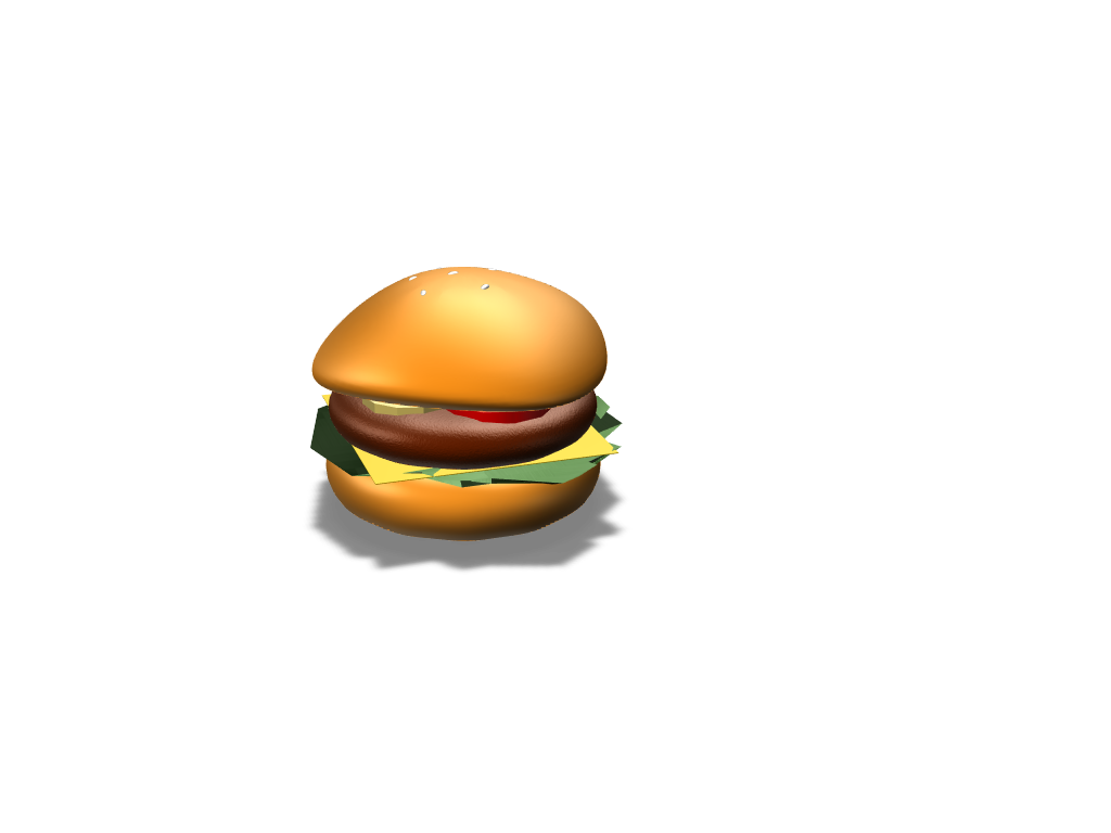 Burger - 3D design by Maow Del Rosario Feb 28, 2018
